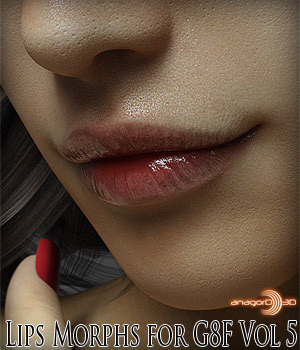 Lips Morphs for G8F Vol 5 3D Figure Assets Anagord