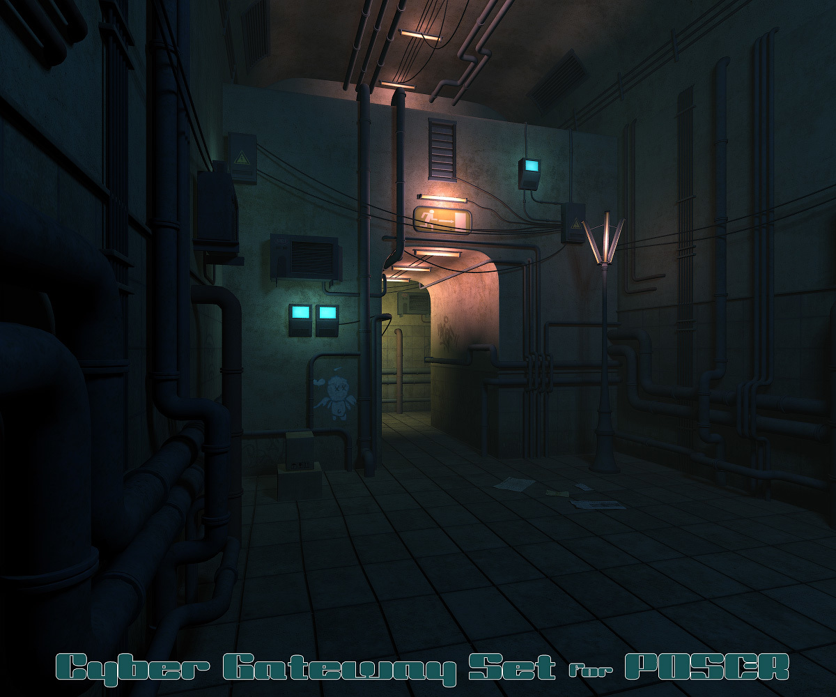 Cyber Gateway Set for Poser by 1971s