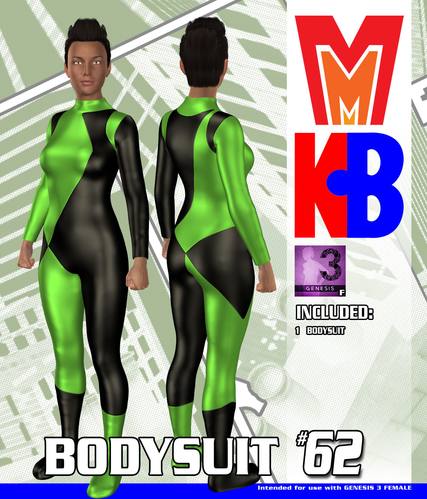 Bodysuit 062 MMKBG3F by MightyMite