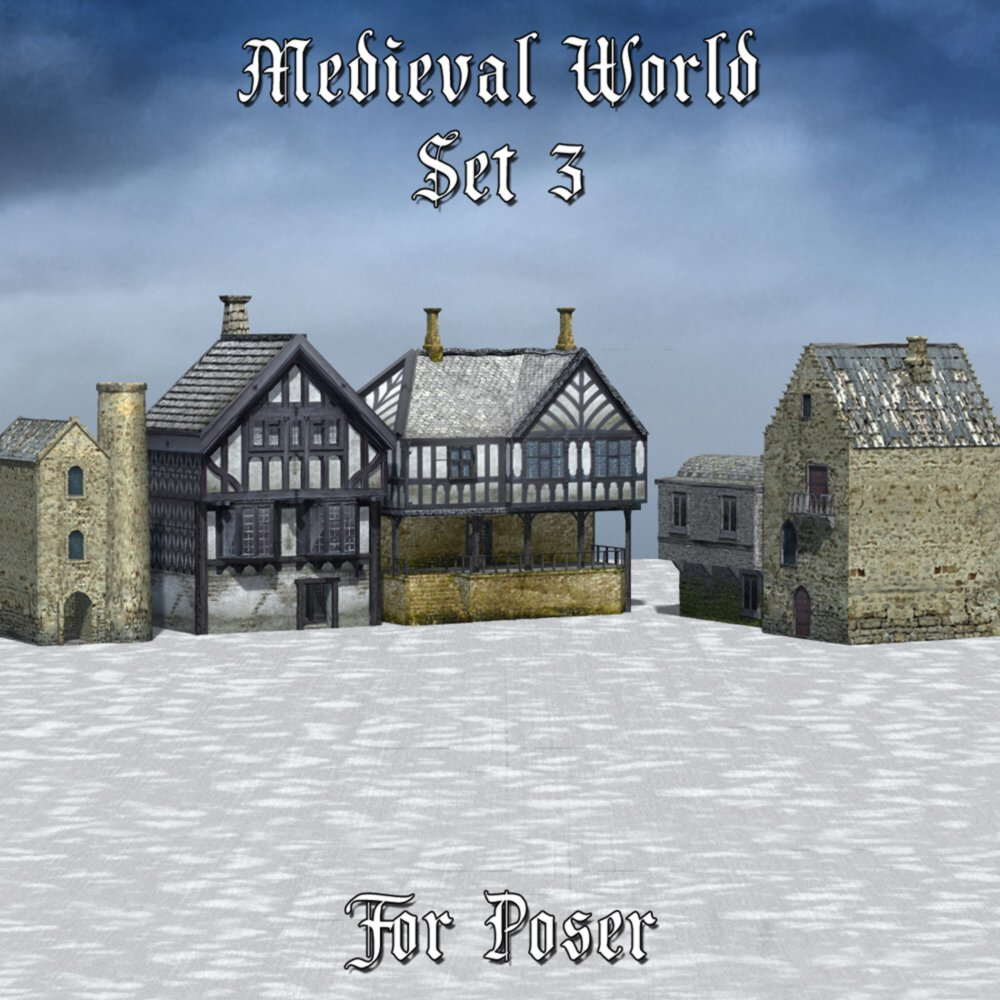 Medieval World Set 3 for Poser by VanishingPoint