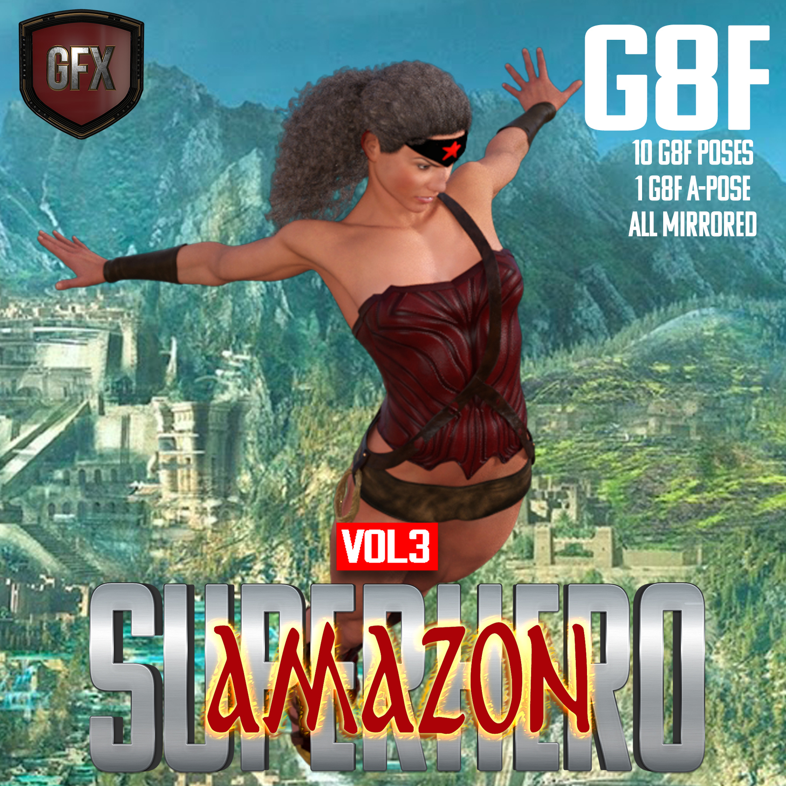 SuperHero Amazon for G8F Volume 3 by GriffinFX