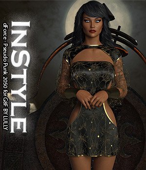InStyle - dForce - Pseudo Punk 2050 for G8F 3D Figure Assets -Valkyrie-