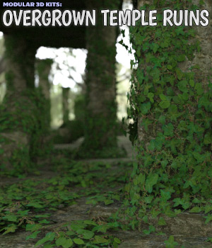 Modular 3D Kits: Overgrown Temple Ruins - Extended License 3D Models Extended Licenses ShaaraMuse3D