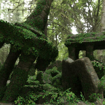 Modular 3D Kits: Overgrown Temple Ruins - Extended License image 1