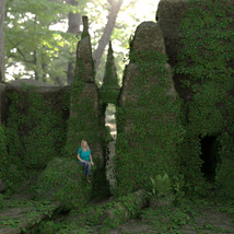 Modular 3D Kits: Overgrown Temple Ruins - Extended License image 4