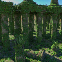 Modular 3D Kits: Overgrown Temple Ruins - Extended License image 5
