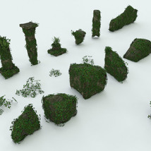 Modular 3D Kits: Overgrown Temple Ruins - Extended License image 6