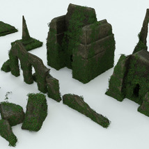 Modular 3D Kits: Overgrown Temple Ruins - Extended License image 7