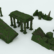 Modular 3D Kits: Overgrown Temple Ruins - Extended License image 8