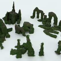 Modular 3D Kits: Overgrown Temple Ruins - Extended License image 9