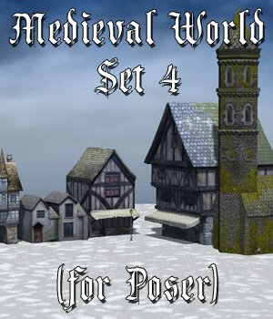 Medieval World Set 4 for Poser 3D Models VanishingPoint