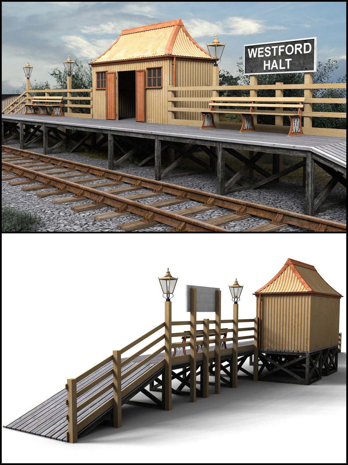GWR Halt and Pagoda - Extended License by DryJack
