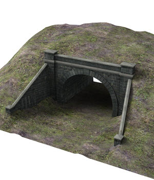 Railway tunnel mouth - Extended License 3D Models Extended Licenses DryJack