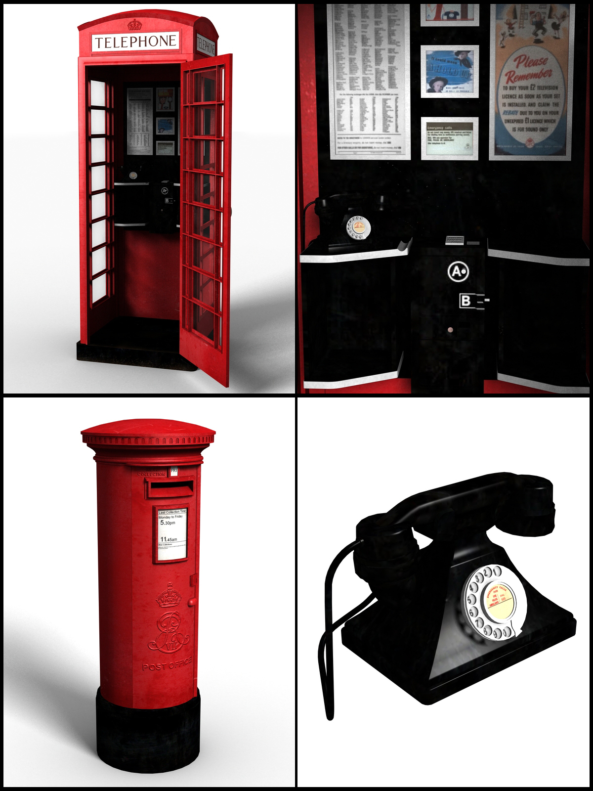 Classic British Street Props - Extended License by DryJack