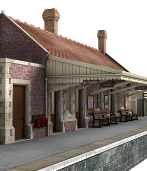 Dunster station - Extended License 3D Models Extended Licenses DryJack