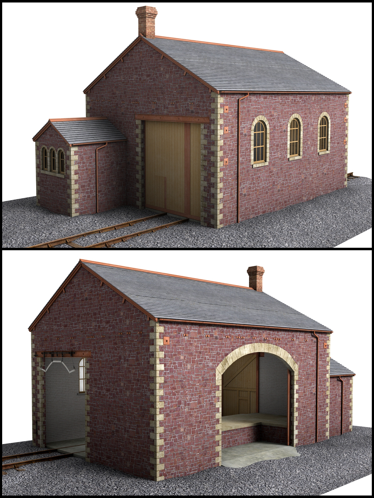 Goods shed and yard crane - Extended License by DryJack