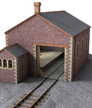 Goods shed and yard crane - Extended License 3D Models Extended Licenses DryJack