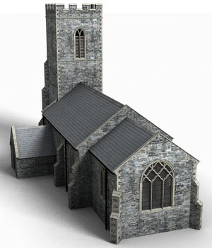 English country church - Extended License 3D Models Extended Licenses DryJack