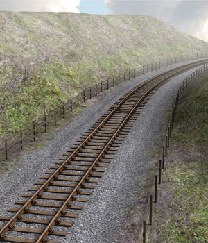 Railway Cutting - Extended License 3D Models Extended Licenses DryJack