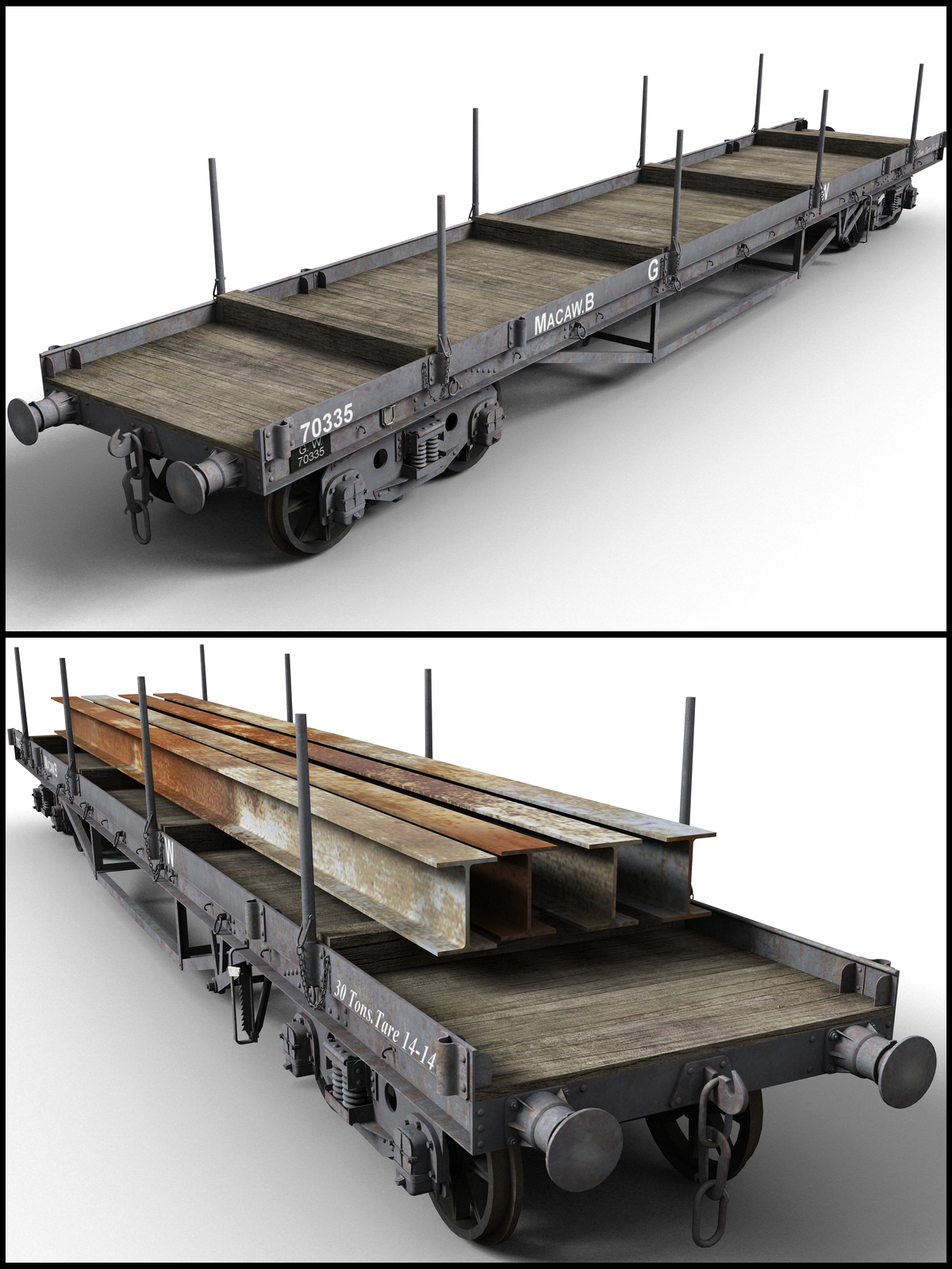 GWR -Macaw B- Bogie Wagon - Extended License by DryJack