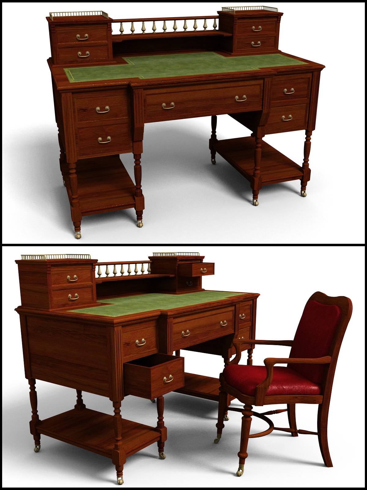 Victorian Writing Desk - Extended License