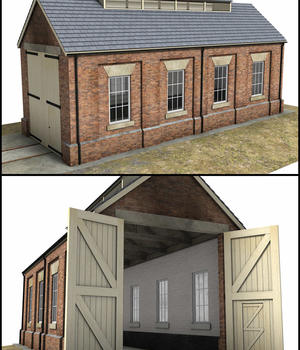 Single Road Engine Shed - Extended License 3D Models Extended Licenses DryJack