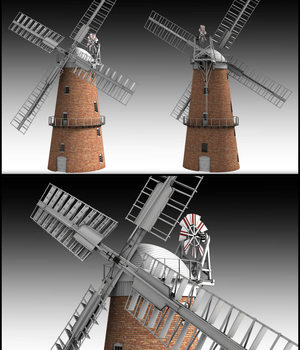 Norfolk Windmill - Extended License 3D Models Extended Licenses DryJack