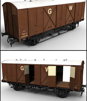 GWR Fruit D Van - Extended License 3D Models Extended Licenses DryJack