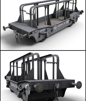 GWR Coral A Wagon - Extended License 3D Models Extended Licenses DryJack