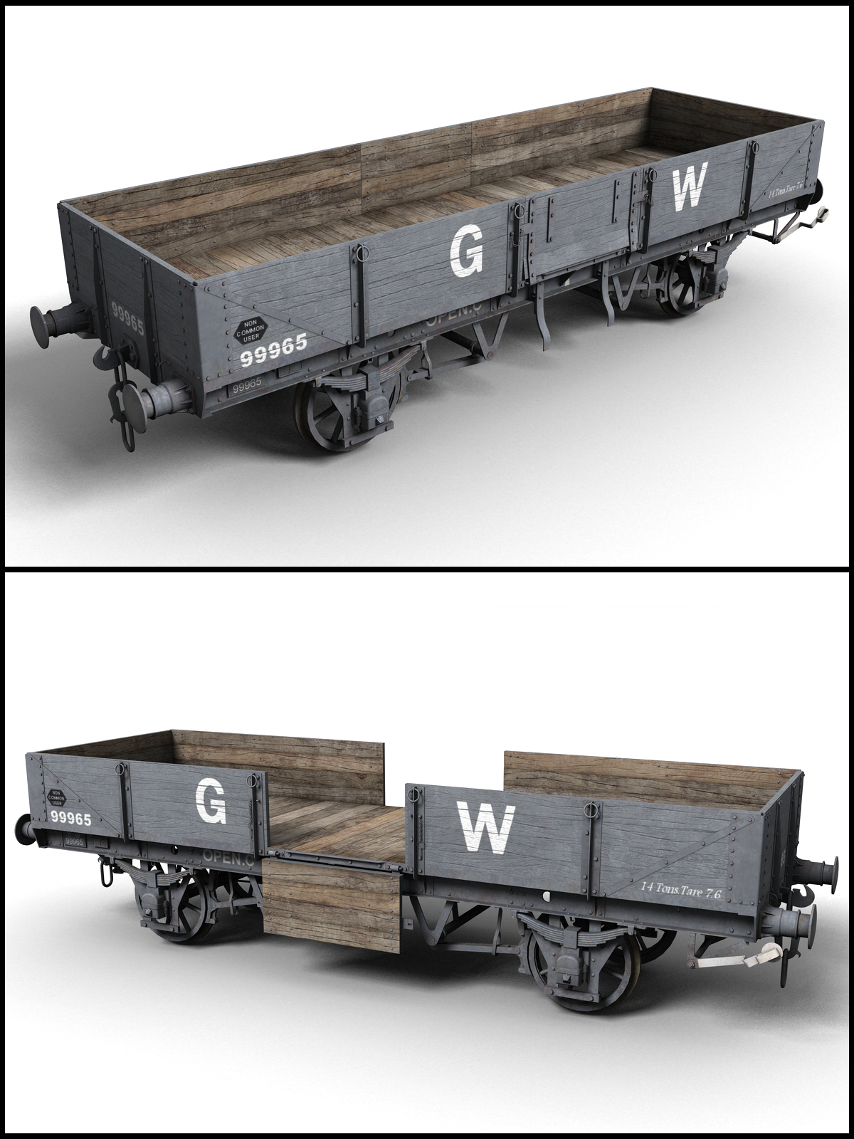 GWR - Open C - Wagon - Extended License