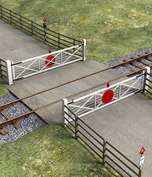 Level Crossing - Extended License 3D Models Extended Licenses DryJack