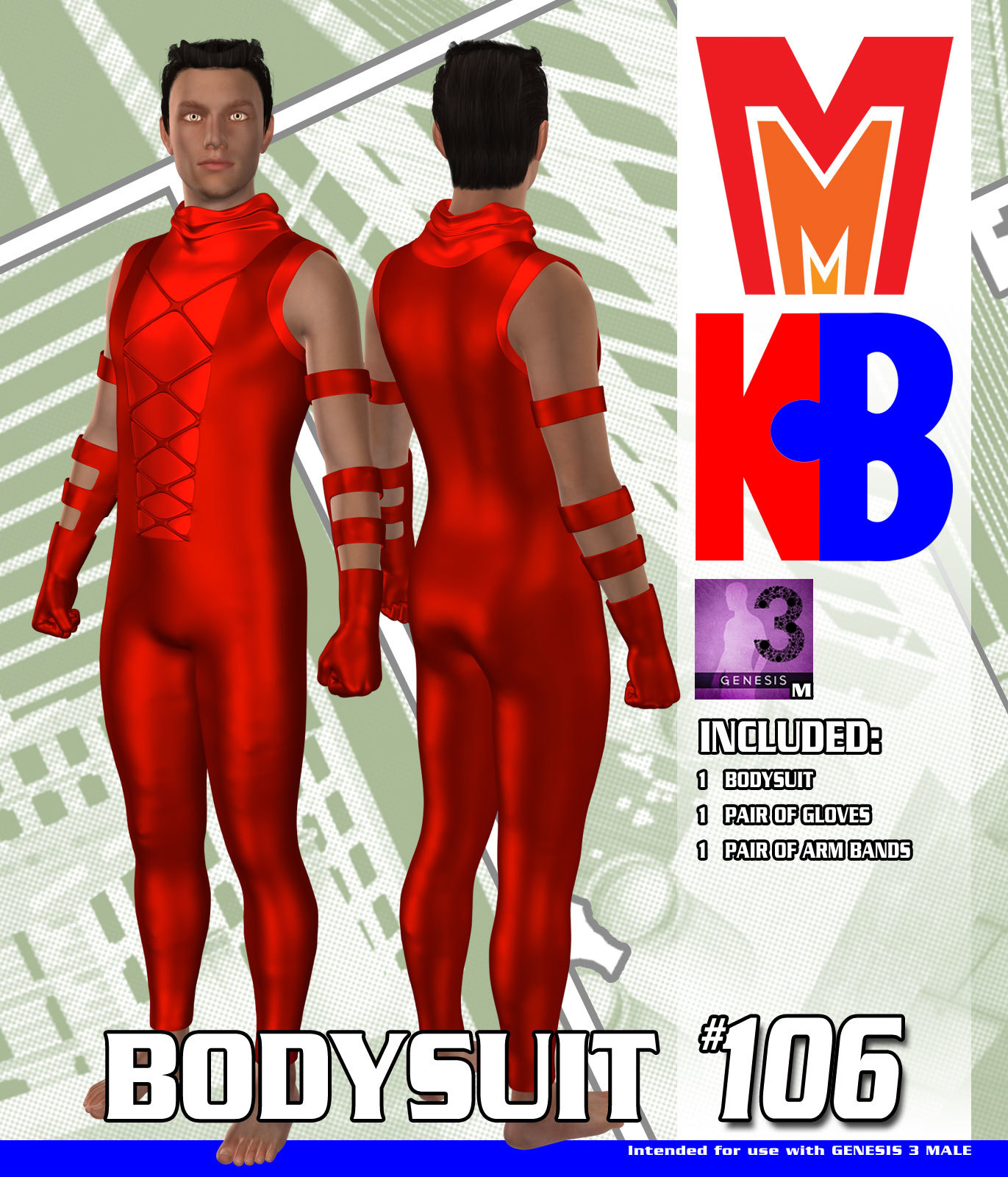 Bodysuit 106 MMKBG3M by MightyMite