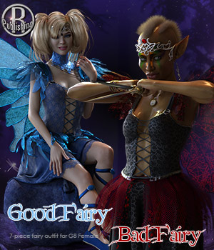 Good Fairy Bad Fairy for G8F 3D Figure Assets RPublishing