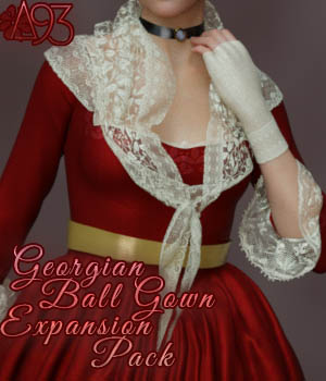 a93 - Georgian Ball Gown Expansion 3D Figure Assets anjeli93