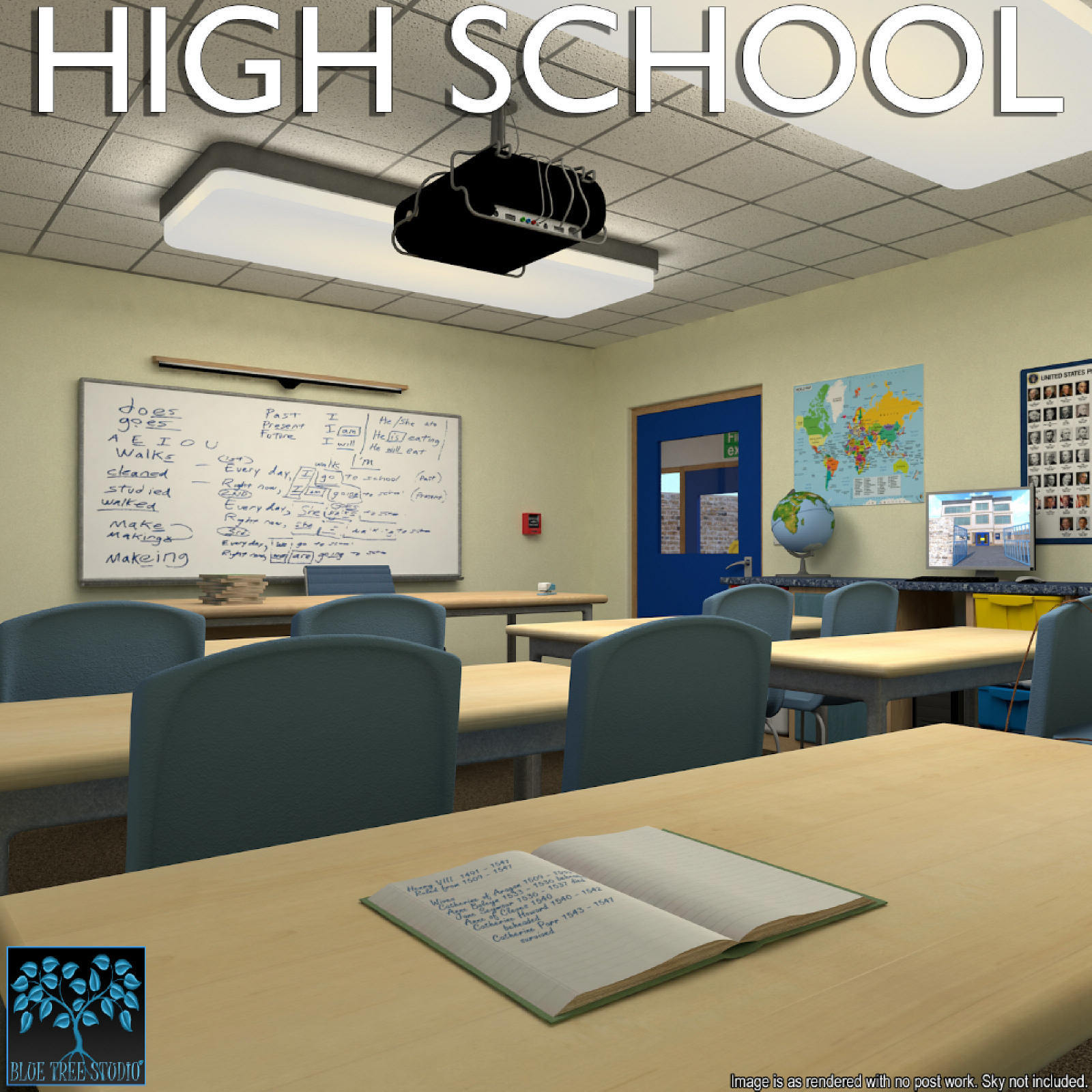 High School for Poser by BlueTreeStudio