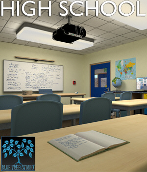 High School for Poser 3D Models BlueTreeStudio