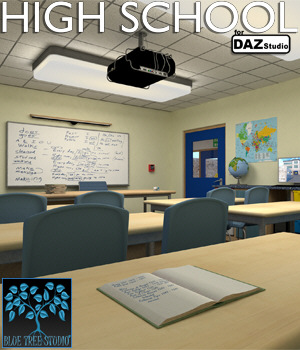 High School for Daz Studio 3D Models BlueTreeStudio