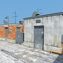 Rooftop Exit set for Daz Studio image 1
