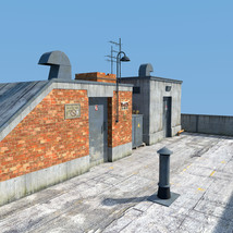 Rooftop Exit set for Daz Studio image 2