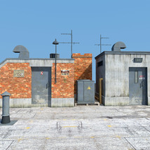 Rooftop Exit set for Daz Studio image 3