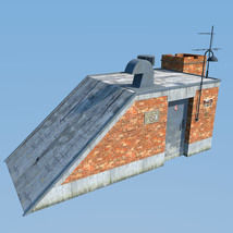 Rooftop Exit set for Daz Studio image 8