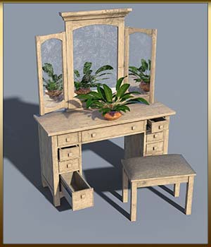 Vintage Furniture : Dressing Table for DS 3D Models DreamlandModels