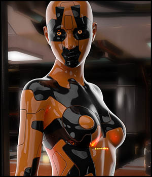 BotSkin. Double Layer Cyborg Skin - Materials and Geo Shell for Genesis 8 Female 3D Figure Assets DireWorks