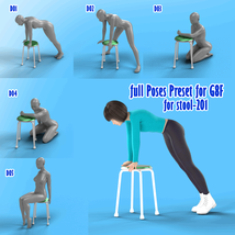 X7 Morphing Stool Props and Poses for Genesis 8 Female SET2 image 2
