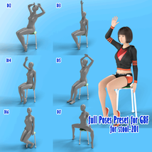 X7 Morphing Stool Props and Poses for Genesis 8 Female SET2 image 4