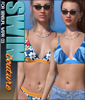SWIM Couture for Sensual Wear 03 3D Figure Assets Sveva