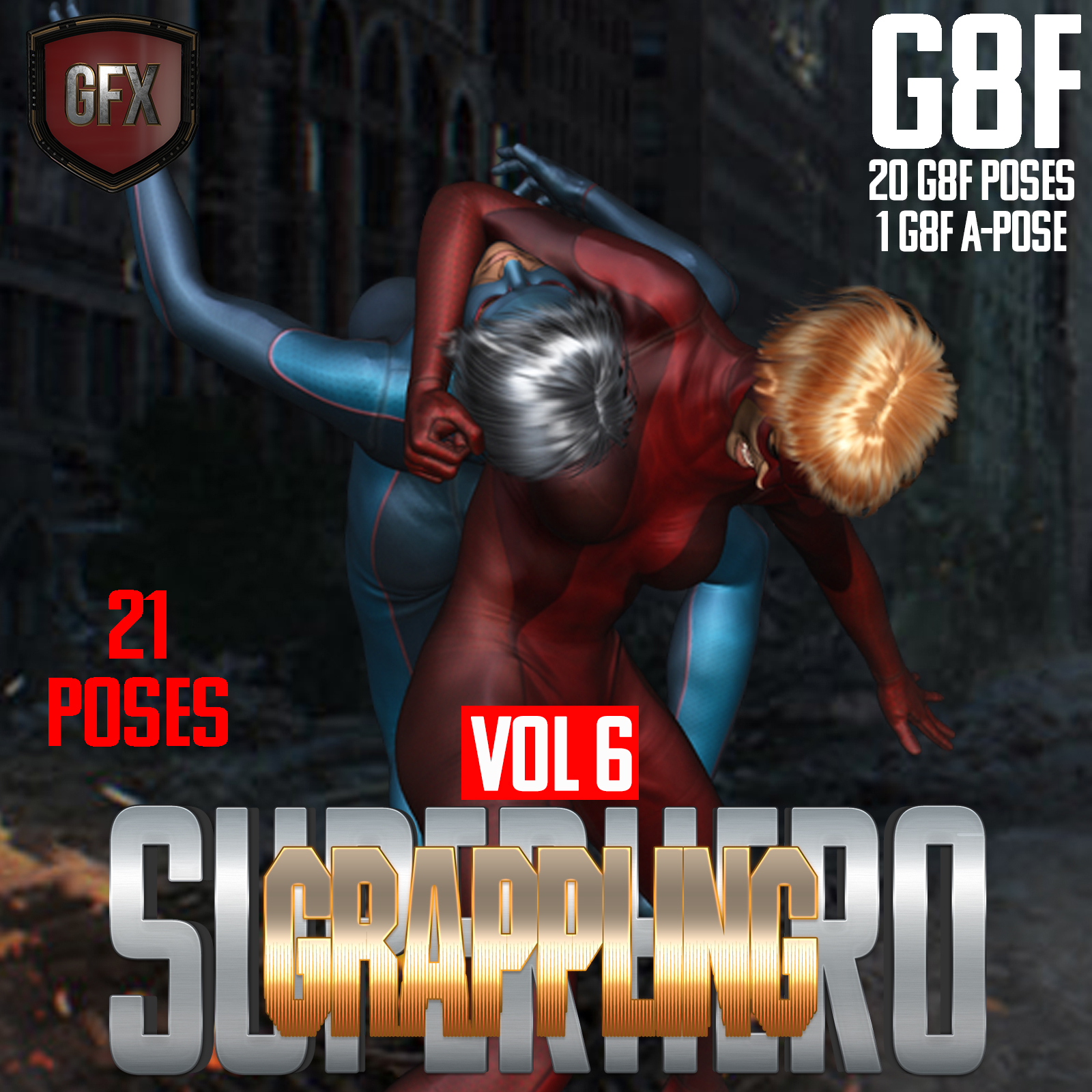 SuperHero Grappling for G8F Volume 6 by GriffinFX