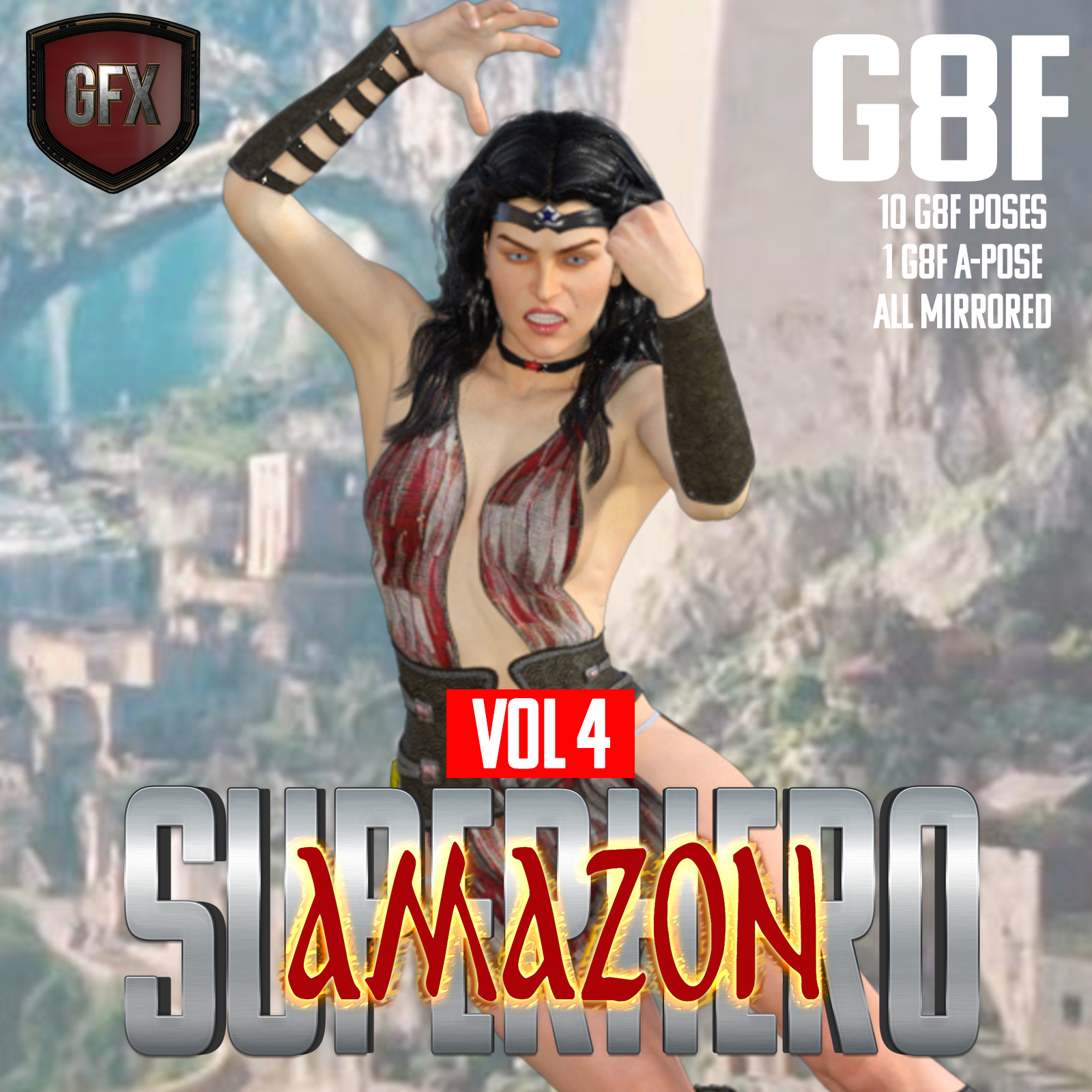 SuperHero Amazon for G8F Volume 4 by GriffinFX