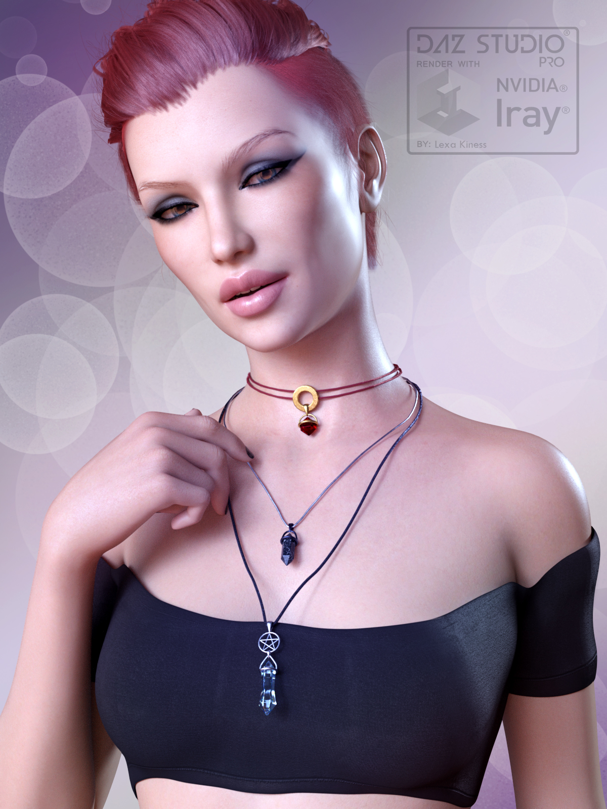 Crystal Necklaces for Genesis 8 Female and Male