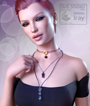 Crystal Necklaces for Genesis 8 Female and Male 3D Figure Assets LexaKiness